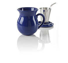 Curve Blue Infuser Tea Mug
